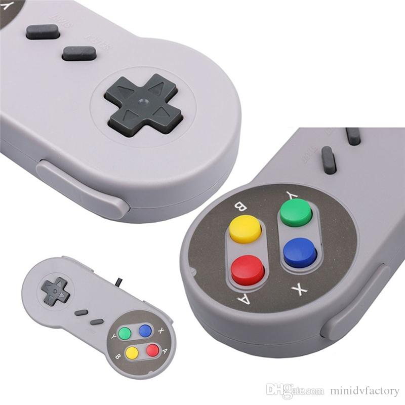 Retro Gaming For SNES USB Wired Classic GamePad Joystick Controller For Windows PC Six Digital Buttons DHL