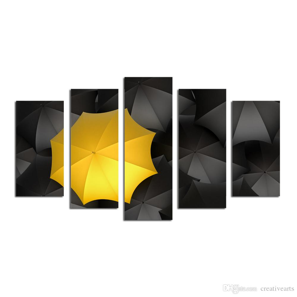 2018 Canvas Wall Art Prints,Yellow Umbrella Canvas Art Prints ...