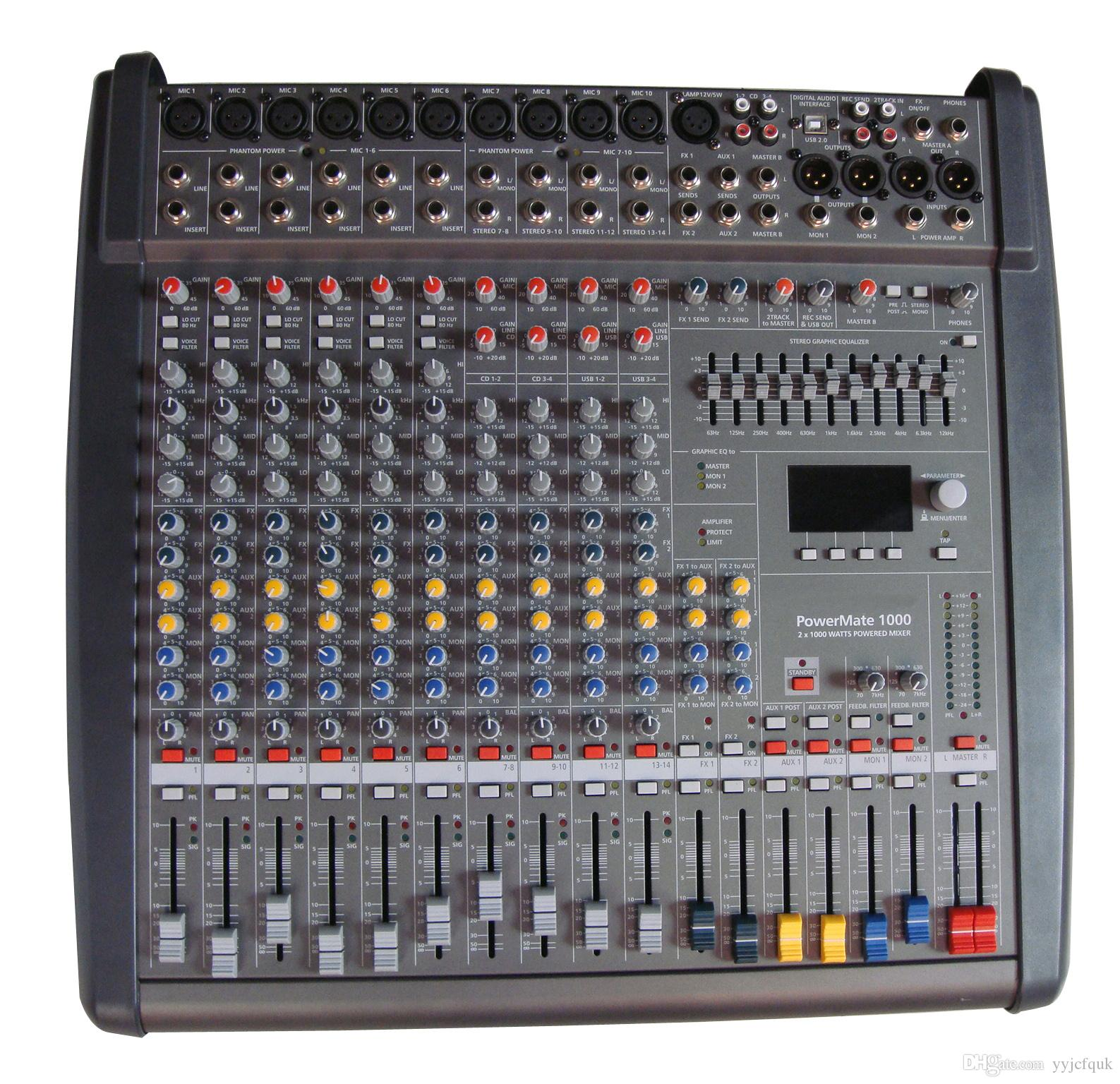 10 channel powermate1000 3 professional mixer mixer amplifier mixer with power amplifier stage. Black Bedroom Furniture Sets. Home Design Ideas
