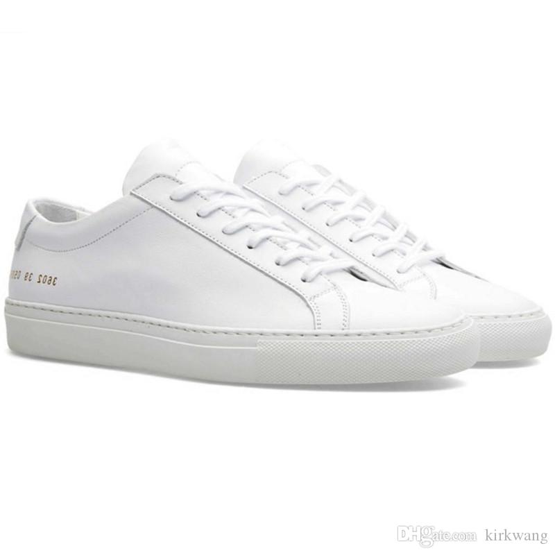 7c91d911e753 Sizes 36 47 Italy Original Brand Fashion Sneakers Simple Style Common  Projects Shoes Men Women White Black Genuine Leather Casual Low Shoes  Basketball Shoes ...