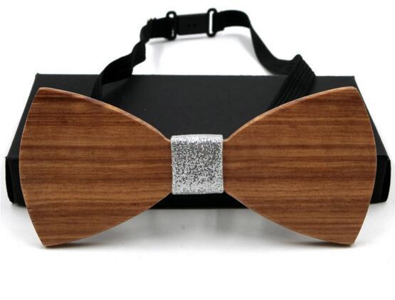 Benzersiz El Işi Mens Ahşap Yay Bağları Boyun Özel Tasarımcı Avrupa Amerika Tarzı 8 Stilleri El Yapımı için Wed Hediye Wenge Gülağ ...
