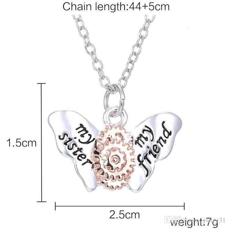 Latest Vintage Steampunk Butterfly Gear Pendant Necklace Retro Punk Jewelry Designs For Men Women