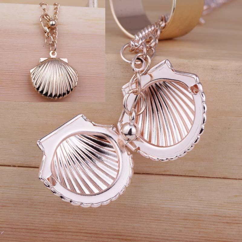 Wholesale fashion can open shell pendant necklace women jewelry for wholesale fashion can open shell pendant necklace women jewelry for girl birthday party necklace accessories wholesale shell necklace gold circle pendant aloadofball Image collections