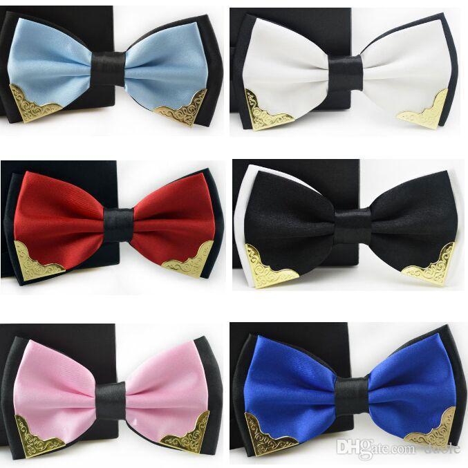 Ladies girls women adjustable pretied bow silk satin bow tie cravat stripes T16