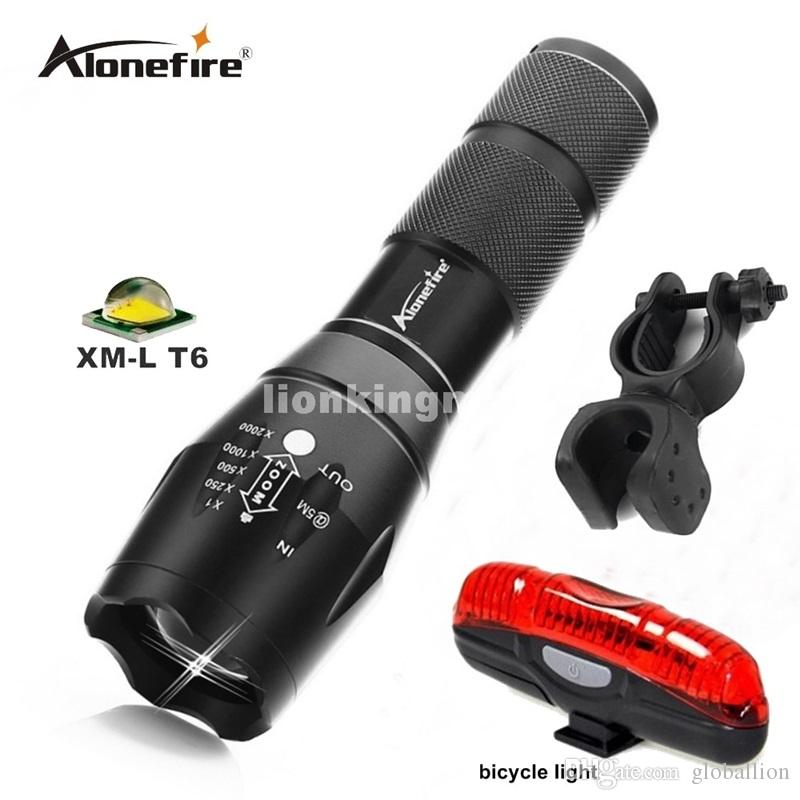 G700 Tactical Military LED Flashlight 3800 lumen XML t6 5modes zoomable flashlight torches by 18650+bicycle light+mounts