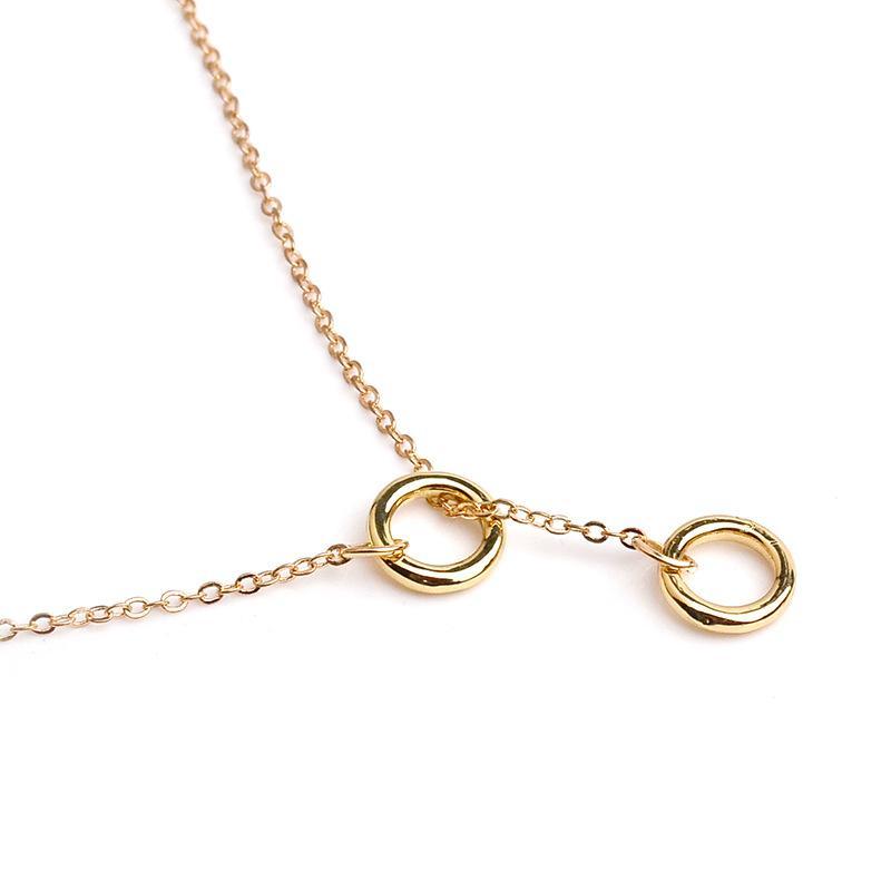 Mode Femmes Collier Bijoux Alliage Cercle Pendentif Colliers Or Argent Plaqué Pour Les Femmes Collier Cadeau