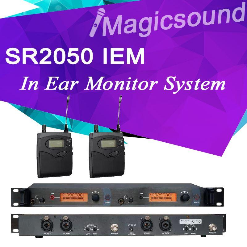 sr 2050 iem sr2050 in ear monitor system top quality 2 channel 2 bodypack professional. Black Bedroom Furniture Sets. Home Design Ideas