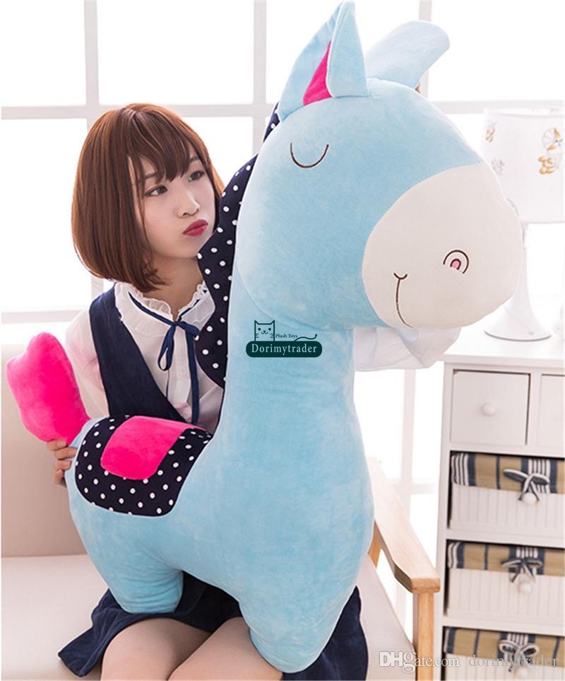 Dorimytrader Schöne Weiche Tier Pferd Stofftier Große Plüsch Cartoon Pferd Puppe Anime Kissen Geschenk für Kinder 39 zoll 100 cm DY61740