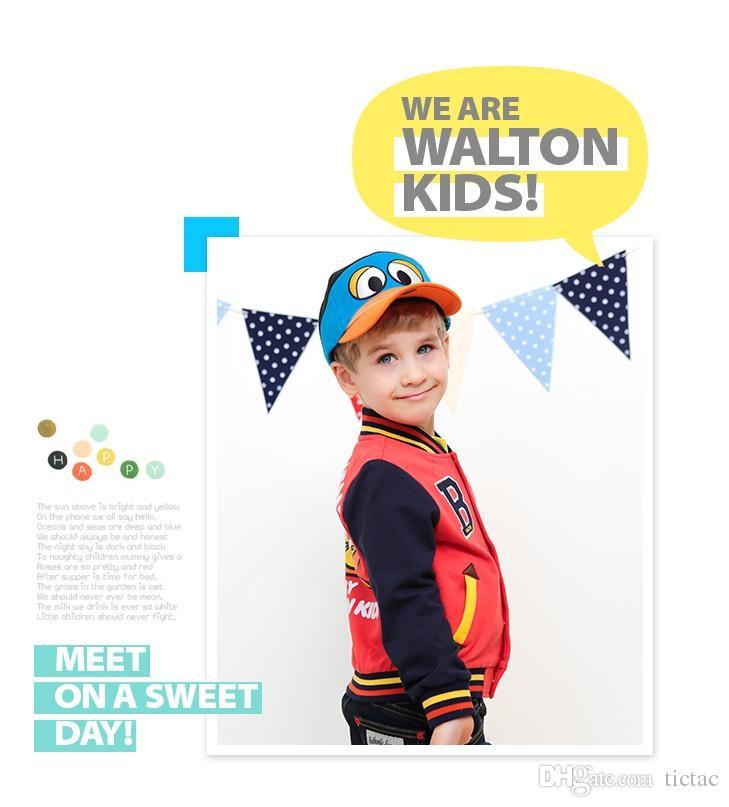 New Autumn Winter Coats Infants Childrens Outwear Kids Clothes Kids Jacket Coats Baby Girls Boys Baseball Uniform D107