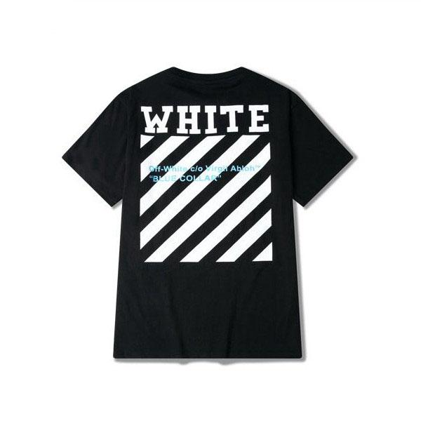 7c30c540d2b035 Fire New Arrive Summer Off White T-shirt Men Stripe Short Sleeve O ...
