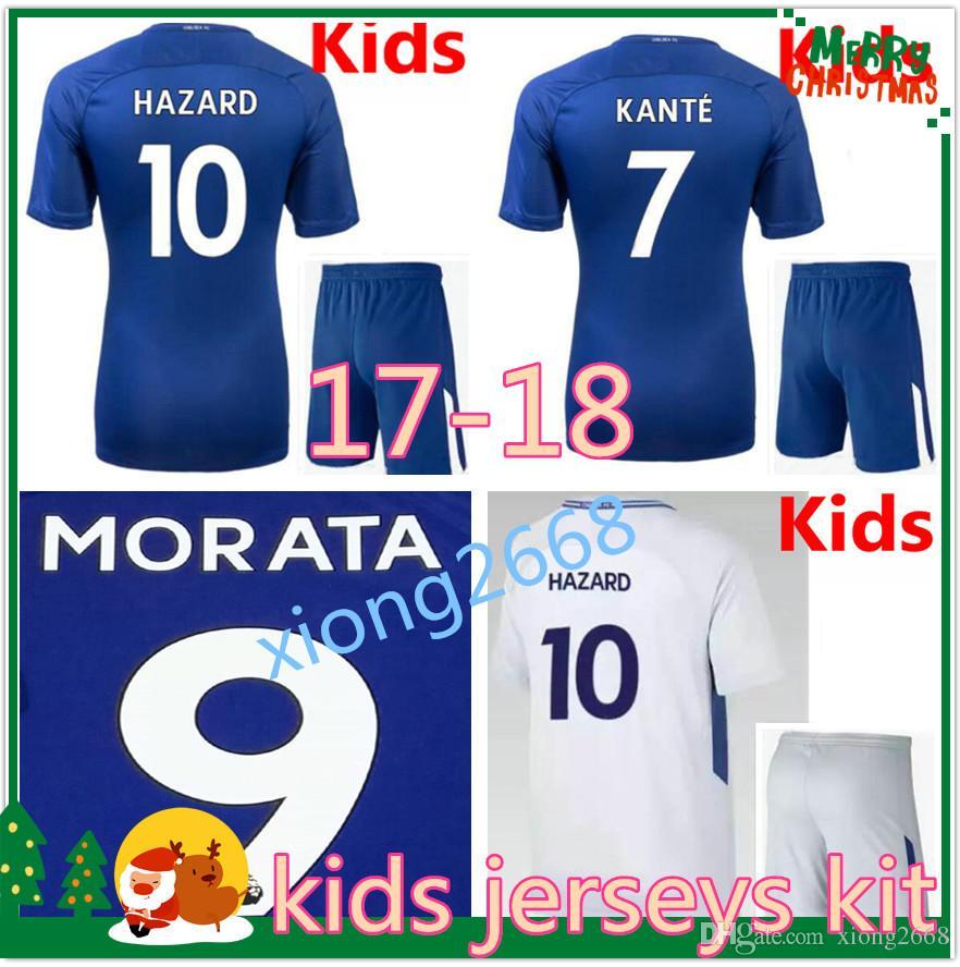 ... 17 18 Kids Chelsea Soccer Jersey Kit 2017 2018 Kids MORATA Willian  HAZARD Pedro DIEGO COSTA ... c0eecc00a
