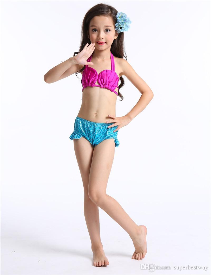 Sirène Bikini / SET Filles Enfants Sirène Queue Nagable Bikini Ensemble Maillot De Bain Maillot De Bain Maillots De Bain Natation Costumes OTH558