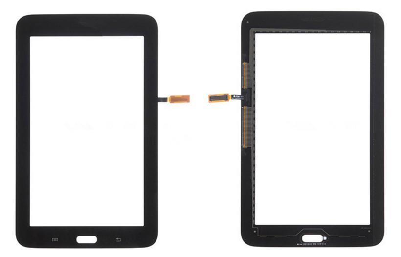 Pantalla táctil digitalizador Panel de vidrio frontal Sensor de lente de vidrio para Samsung T110 T113 T115 Galaxy Tab 3 Lite 7.0 con logotipo