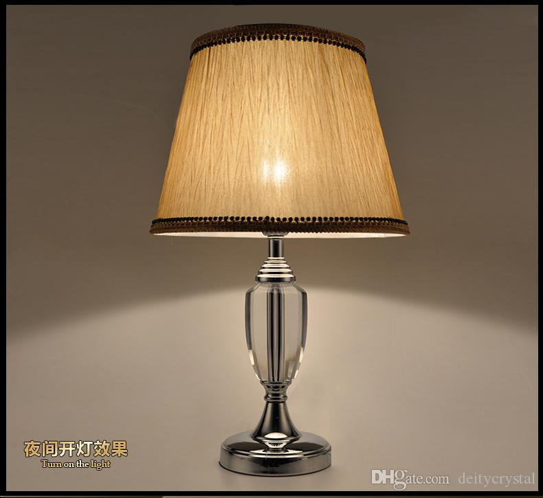 high end crystal table lamps for bedroom luxury lamp brief modern decoration from antique waterford vintage base uk