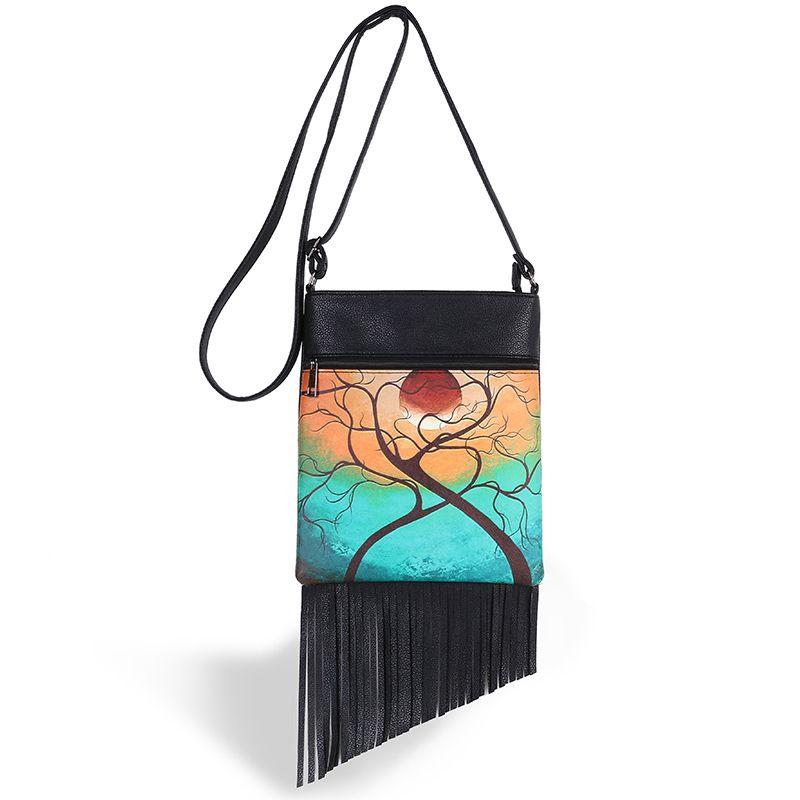 d9adf6956 Compre Atacado Hippie Tassel Bag Franja Zipper Mulheres Messenger Bags  Crossbody Bolsa De Ombro Torcendo Amor De Heheda3, $23.41   Pt.Dhgate.Com