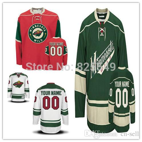 fafa1e4de 2019 Cheap Custom Minnesota Wild Hockey Jerseys Customized All ...
