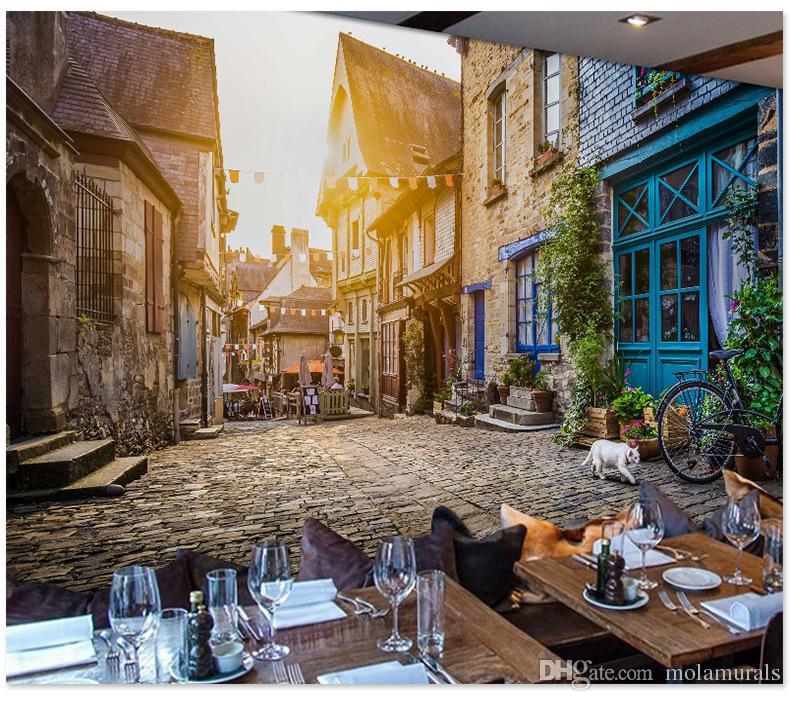 Foto murali personalizzate 3d Sfondi città edificio Paesaggio sfondo Camera  da letto Camera da letto bar per il tempo libero Carta da parati in ...