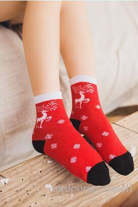 Christmas socks 2018 Christmas gifts new style sports socks boys and girls cute christmas stockings for kids high quality