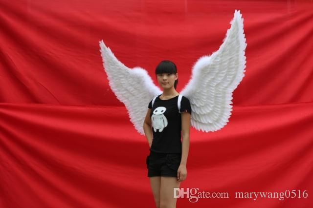 accessoires de décoration de taille personnalisée pour les grandes performances de mariage photographie ailes pur plume d'ange blanc à la main expédition EMS gratuit