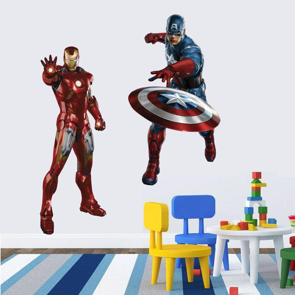 Boys Kids Marvel Avengers Iron Man Wall Stickers Decals
