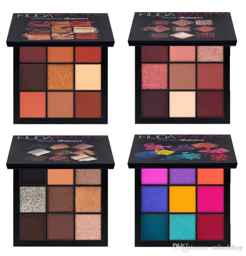 New Brand H Beauty Warm Brown Mauve Smokey Electric Obsessions Eyeshadow Palette 9 colors Eye Shadow Makeup Cosmetics Kylie Nice Palette