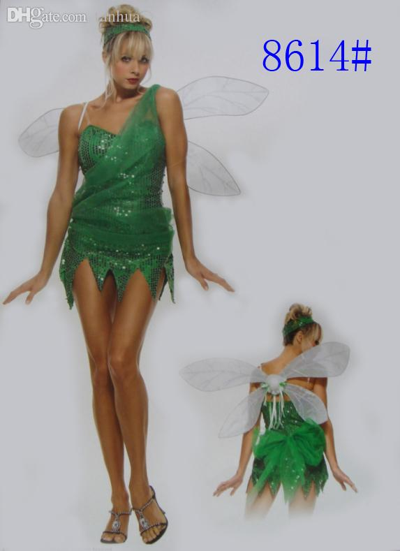 wholesale halloween costumes for women elf tinkerbell princess dress elves skirt flower fairy cosplay tinkerbell costume adult clothes resident evil cosplay