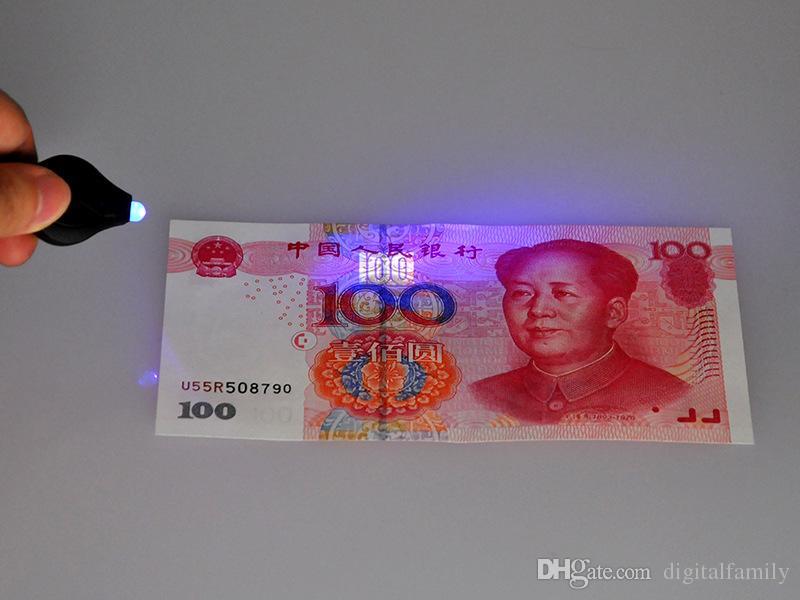Mini Torche Porte-clés PK Porte-clés Blanc LED Lumières UV LED Ampoules Photon 2 Micro LED Porte-clés Lampe de poche Mini Lampe