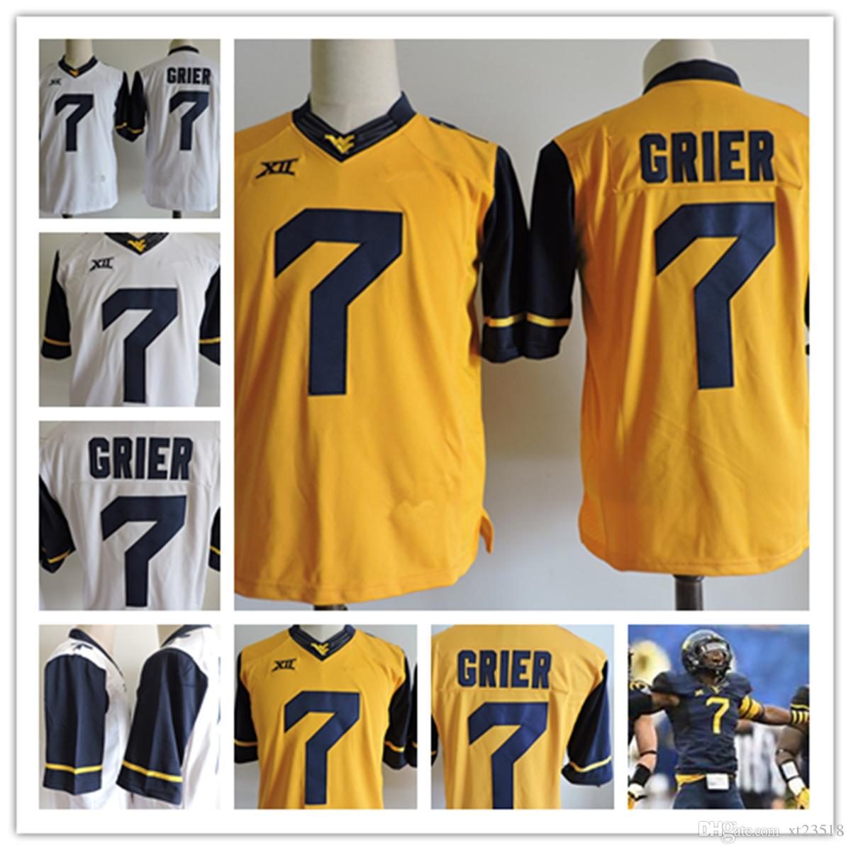 ... 2017 mens west virginia mountaineers will grier college football jerseys  stithced 7 will grier ncaa 7d4bf4976