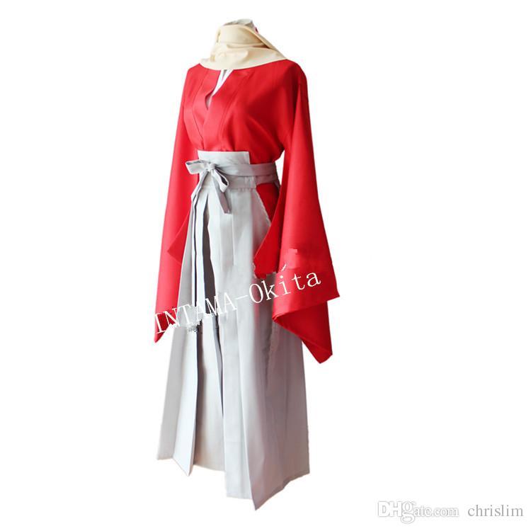 Японский аниме Gintama косплей Okita Sougo костюм для взрослых японский кимоно топ+ брюки +шарф +пояс за комплект