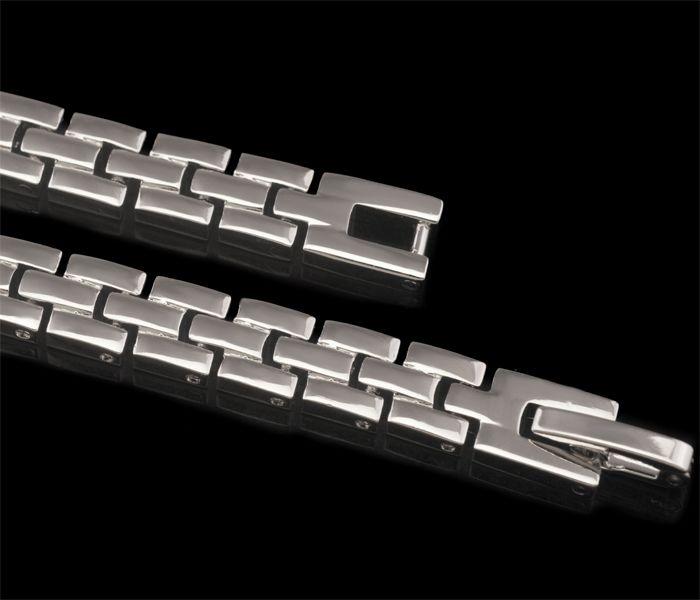 220B 195 * 6 Millimeter Fantasie-freie Steinuhr-Armbänder für Männer weißes Gold überzogene europäische Art und Weise