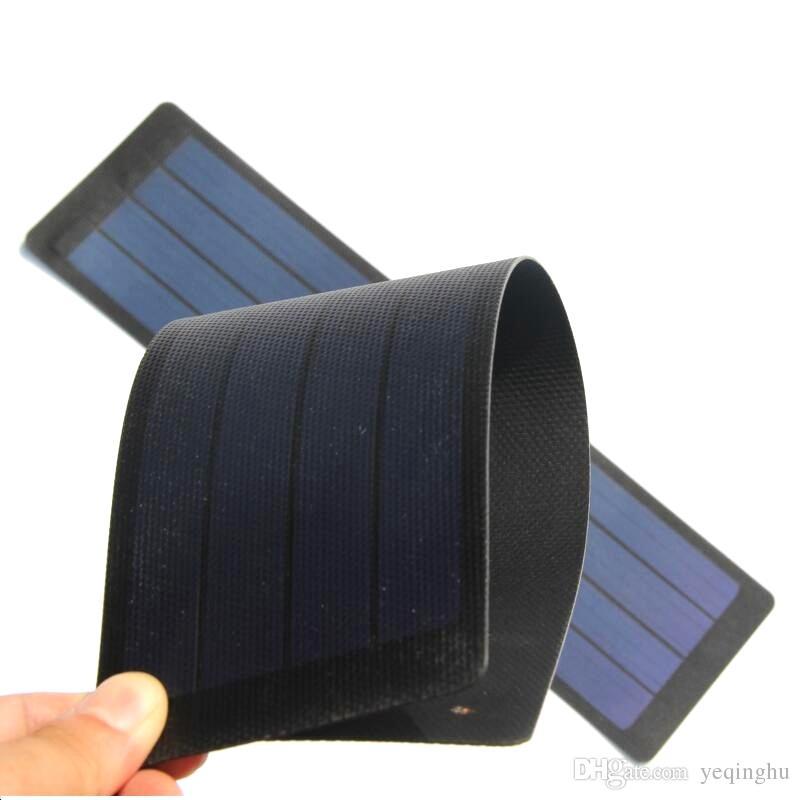 Alta Qualidade 2 W 6 V Flexível Solar Célula Solar Dobrável de Silicone Painel Solar DIY Carregador Solar Resistente À Chuva Livre grátis