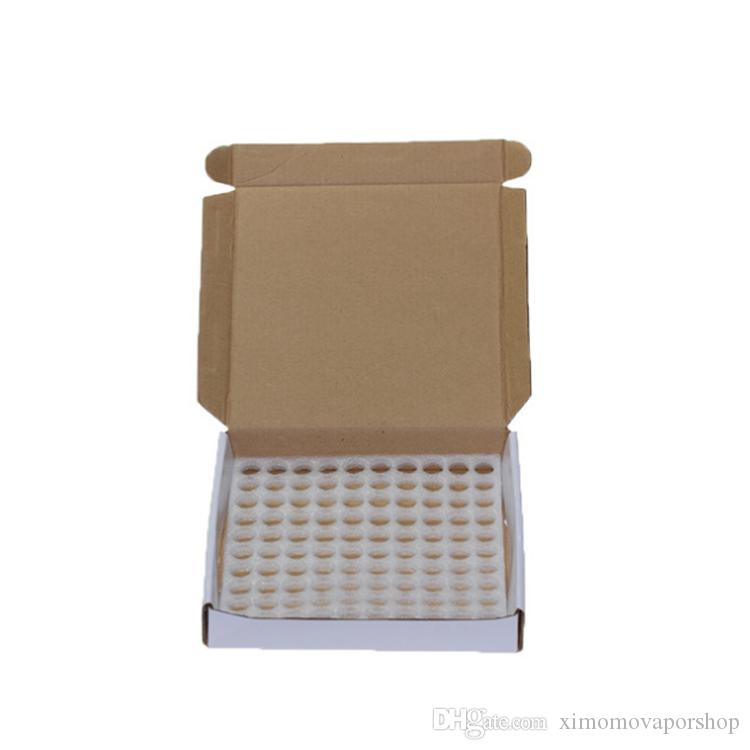 Paquete de caja 100 Unids / caja 1 ML 2ML Mini Amber Aceite esencial de vidrio vacío Tornillo de la botella Negro Tapa 1CC 2CC Muestra marrón Vial a granel Stock