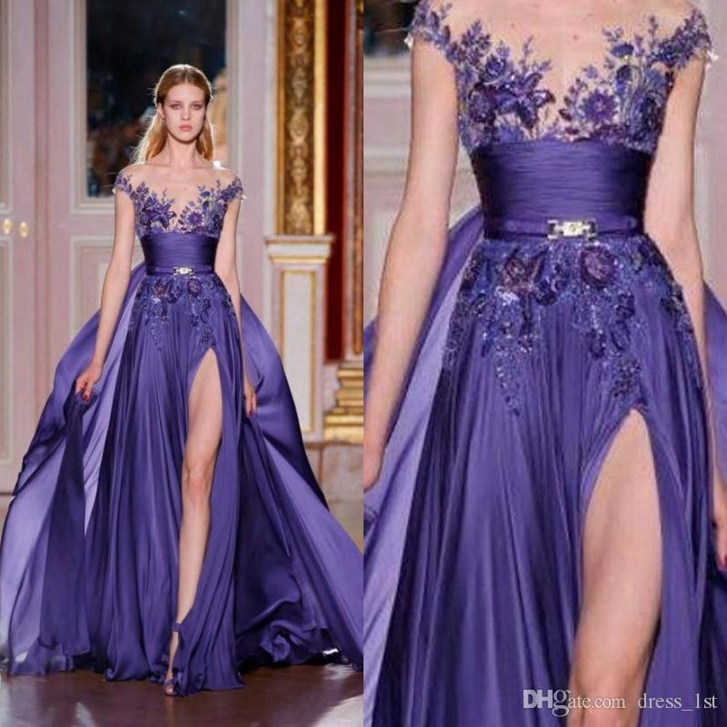 Lavender Chiffon Dress with Sleeves