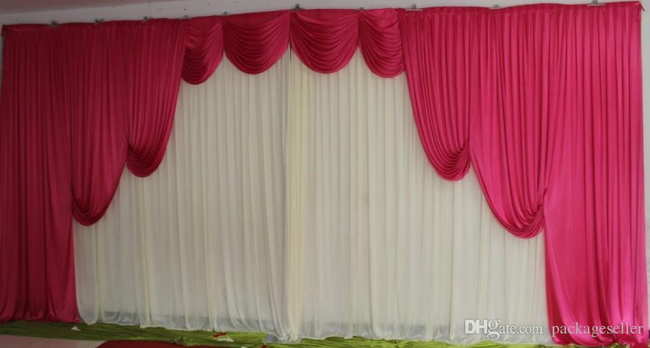 3m 6m white silk wedding backdrop curtains wedding