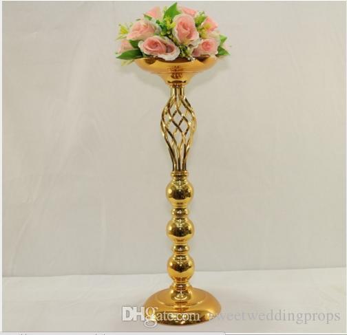 Hochzeitstafel-Mittelstück 30cm groß Goldmittelstück-Blumenvase Hochzeitsdekoration /