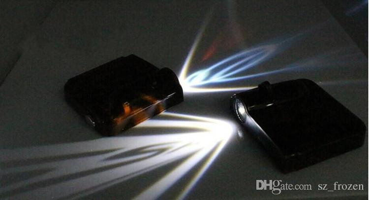 Vehículo / automóvil LED proyección inalámbrica LOGO Marca de puerta Luz de bienvenida Puerta Paso Tierra Lámpara de proyección para todas las marcas Envío gratis