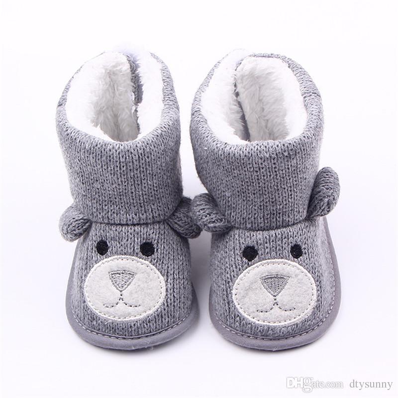 Ein stück winter warm baby boy erste wanderer gestrickte pullover stiefel booty krippe baby mädchen kleinkind boy schuh für 0-1 jahr