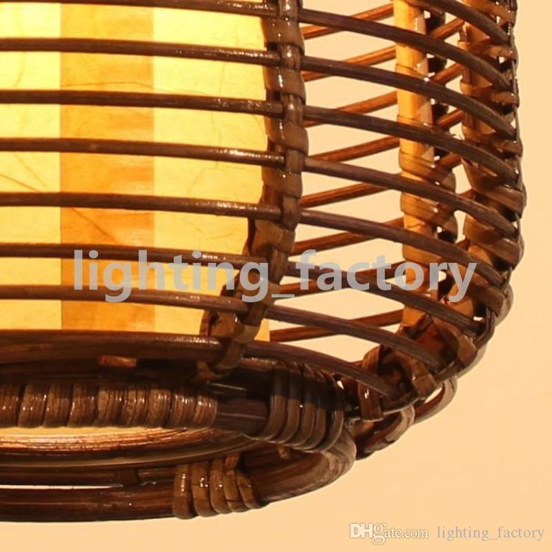 Südostasien handgefertigte Rattan Restaurant Decke Pendelleuchte Laterne Wohnzimmer Pendelleuchte Restaurant Pendelleuchte Beleuchtung