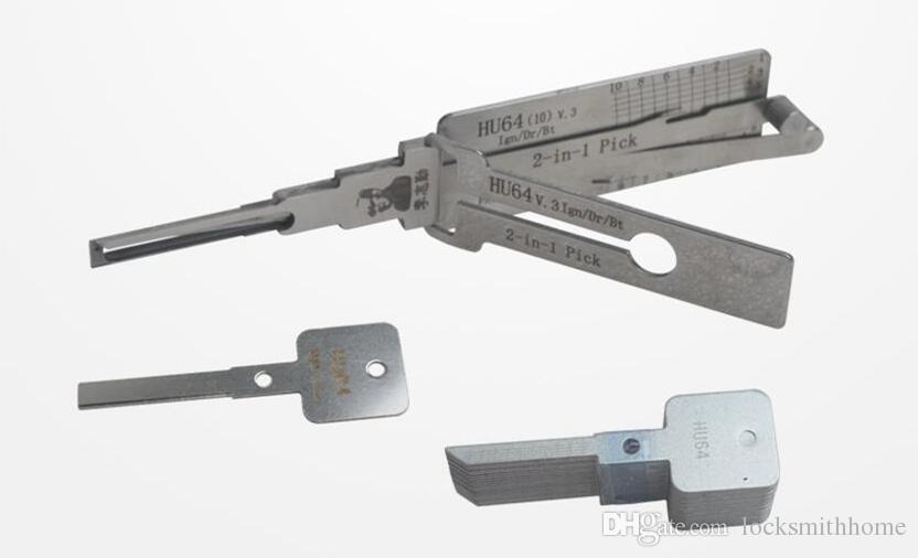 LISHI HU64 2-em-1 Auto Pick e Decoder para ferramenta de serralheiro Mercedes lock pick ferramenta frete grátis