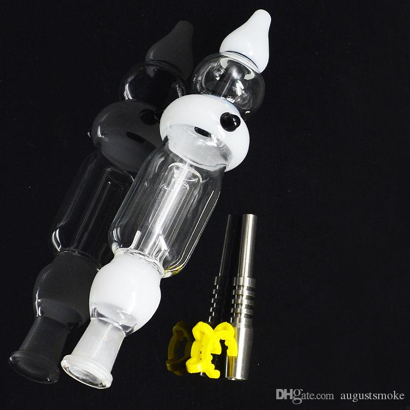 Hot Selling Bongs Concentrate Pipe with Titanium Nail and fixed clamp Glass Water Pipe Oil Rigs Glass Bongs