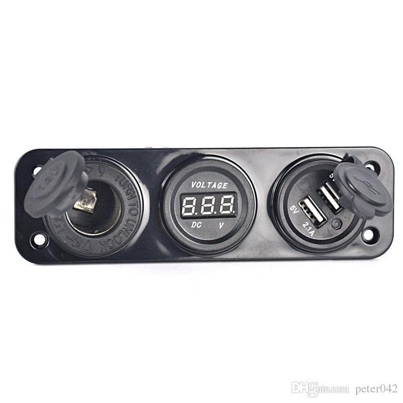 Cigarette Lighter Socket Splitter 12V Dual Car USB Charger Power Adapter Outlet