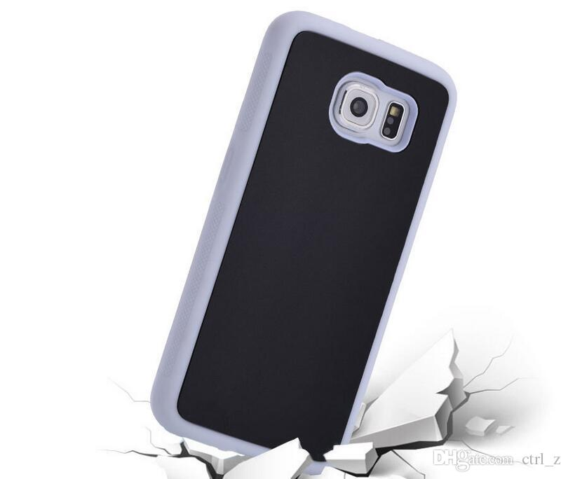 Hybrid TPU PC Anti-Gravity Adsorption Case Magic Stick Sorption back Cover for iphone 5S SE 6 6S plus Galaxy S7 S6 edge