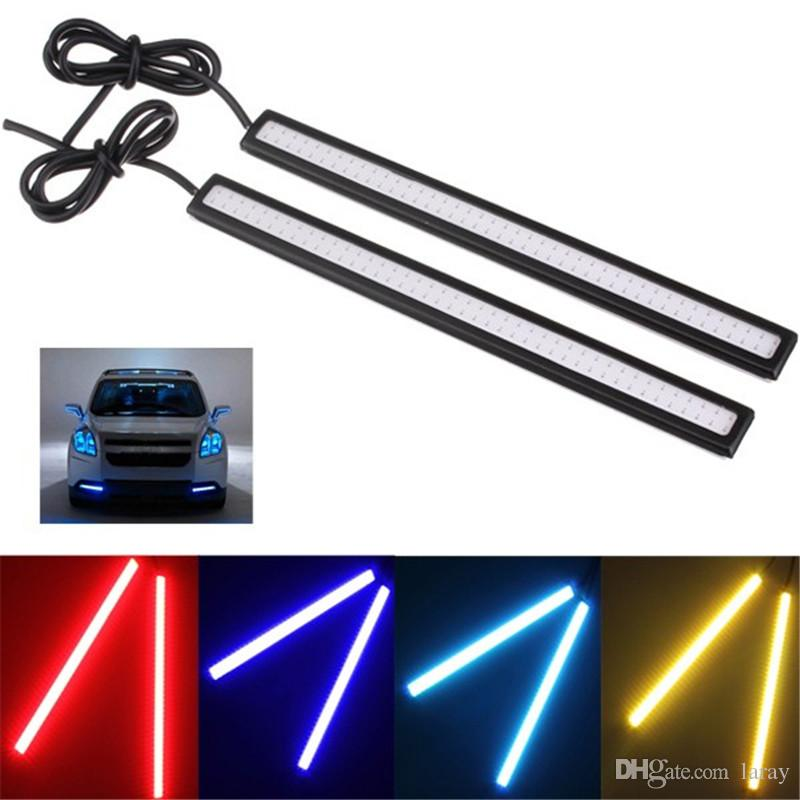 2 pcs car styling 17cm cob drl led trailer lights waterproof ultra thin diy fog light lamp bar light 12v led light car styling 17cm cob drl led trailer lights waterproof ultra thin diy fog light lamp bar light 12v led light led driving lamps led driving l Choice Image
