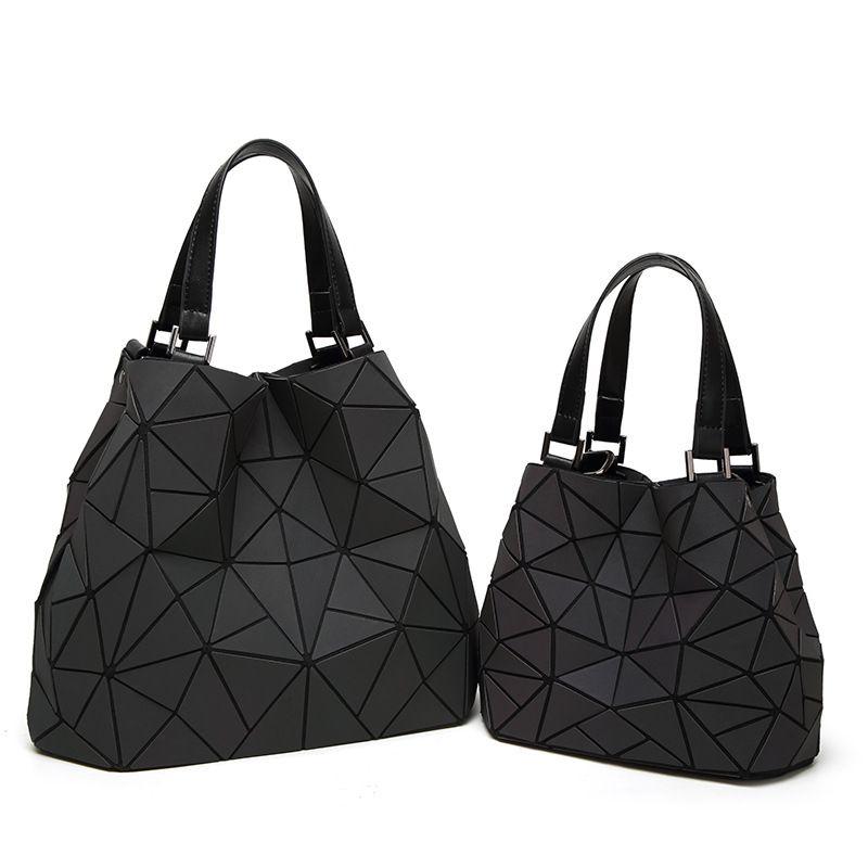 bee0dc86312c 2019 BaoBao Drawstring Bag Women Luminous Triangle Sac Baobao Bag Diamond  Tote Geometry Quilted Shoulder Bags Laser Plain Folding Handbags Bolso From  ...
