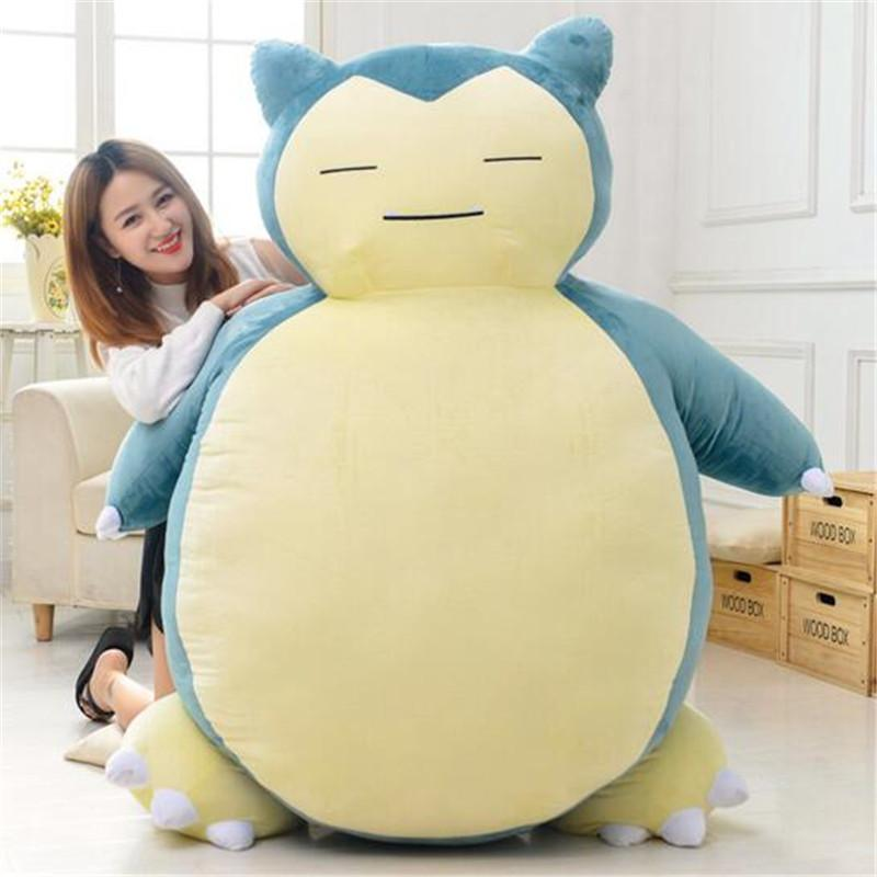 19.7inch Poke Cute Snorlax Plush Doll Soft Stuff Toy Stuffed Animals For Baby Gifts Size 50cm