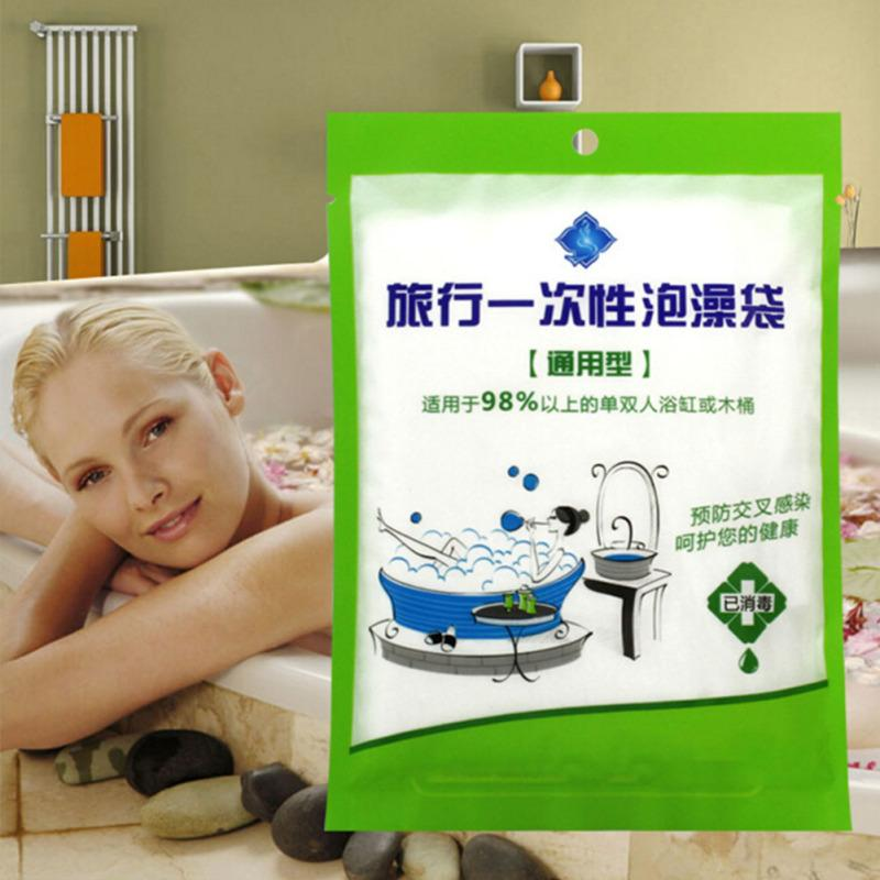 New Large Disposable Travel Bathtub Liner Folding Tub Membrane ...