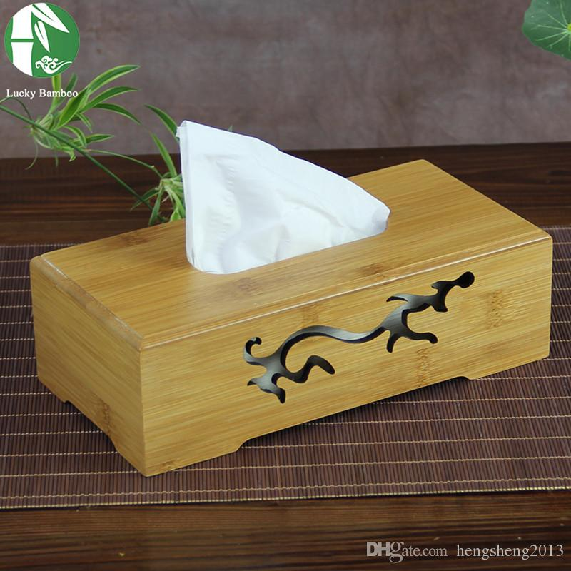 2019 Wholesale 6 Types Tissue Boxes Natural Bamboo Napkin