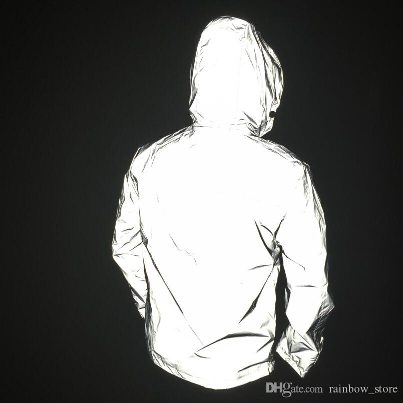 Homens hot outdoor sport hip hop 3 M jaqueta blusão reflexivo mulheres harajuku jaqueta bomber casacos roupas sem qualquer logotipos veste homme XXXL