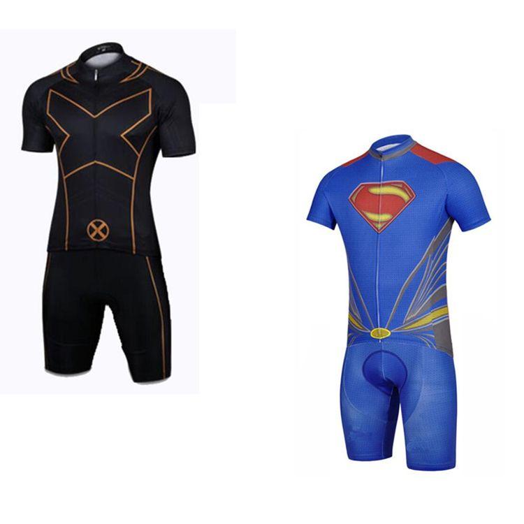 Cartoon Cycling Jerseys Cool Superhero Cycling Wear Iron Man
