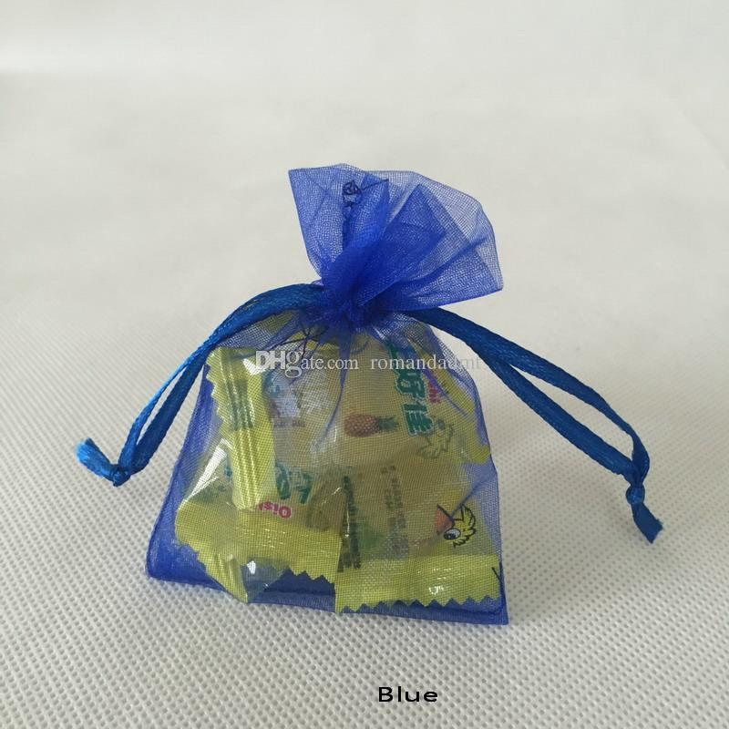 7x9cm Colorful Organza Bag Gauze Candy Packaging Gift Pouch Bags For Wedding favors,beads,jewelry +DHL